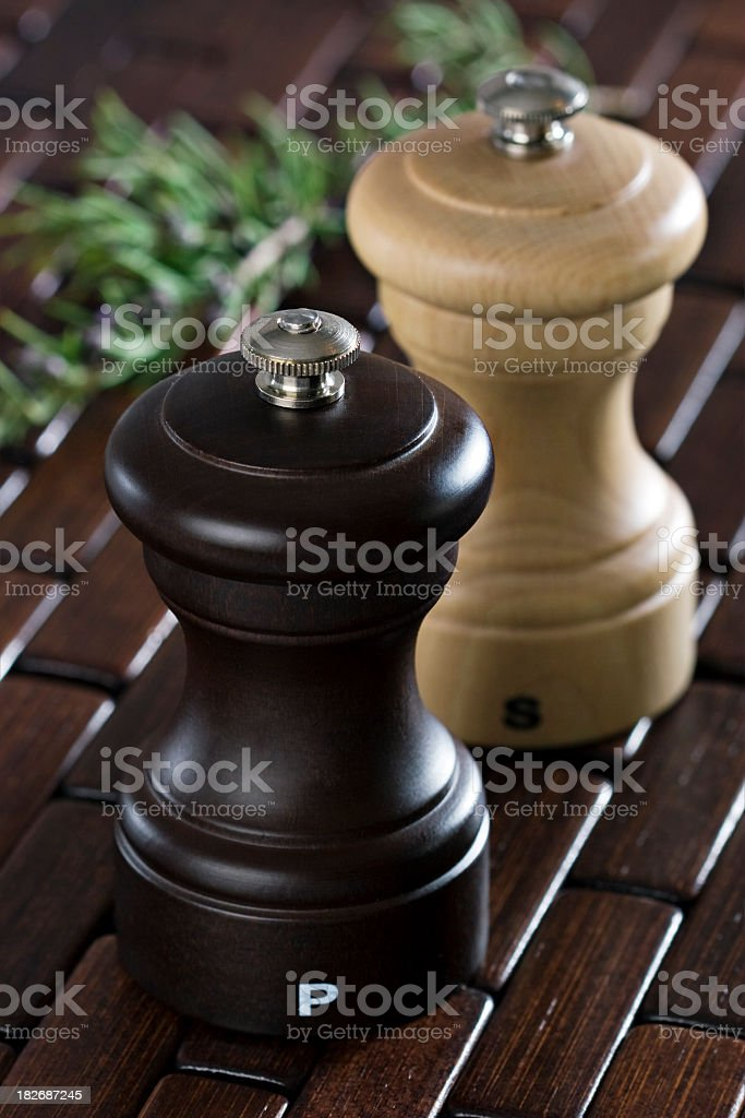 Pepper and salt shaker royalty-free stock photo
