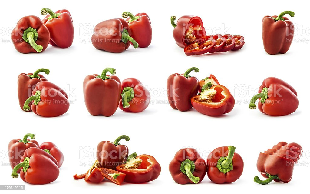 Pepper collage stock photo