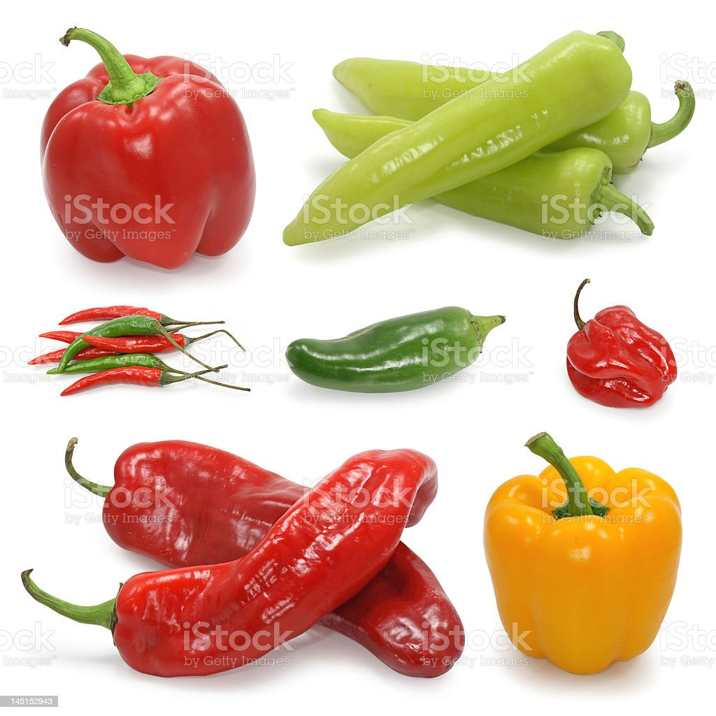 pepper collection royalty-free stock photo