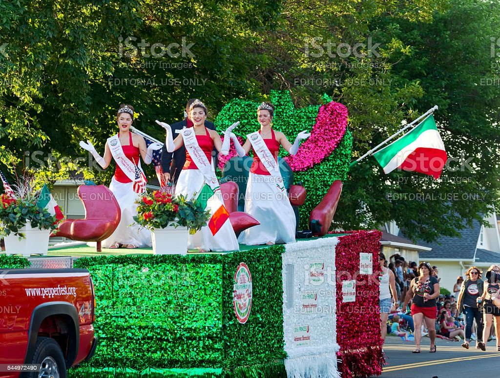 Pepper Fest Royalty at Parade stock photo