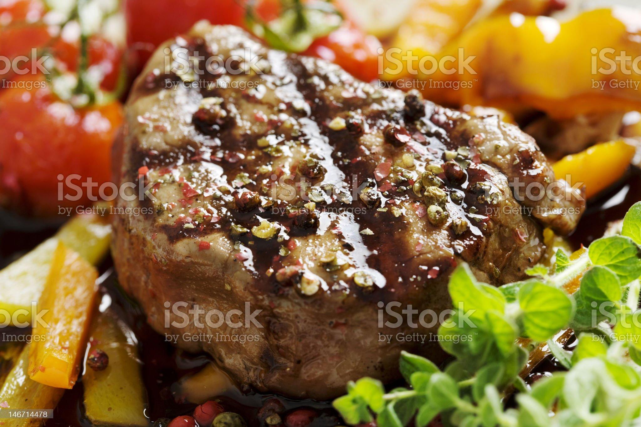 pepper fillet steak royalty-free stock photo