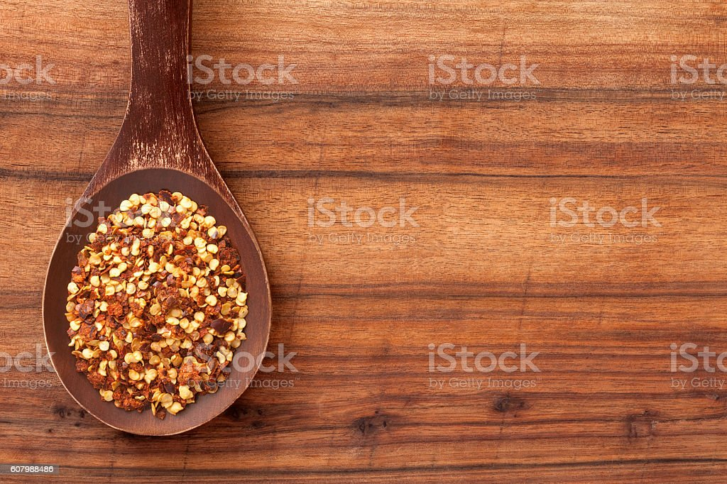 Pepper flakes stock photo