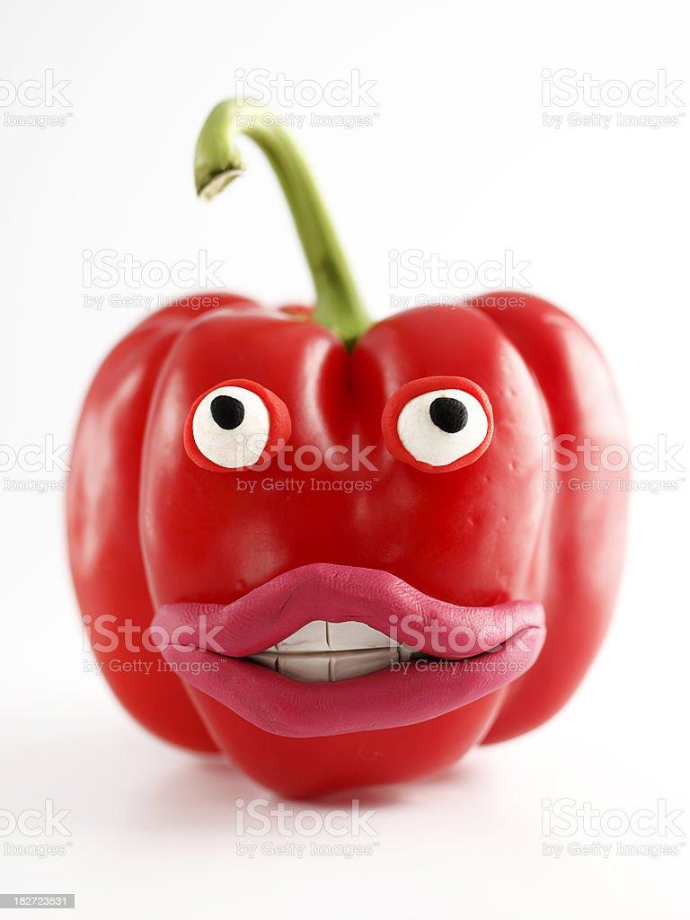 Pepper Portrait royalty-free stock photo