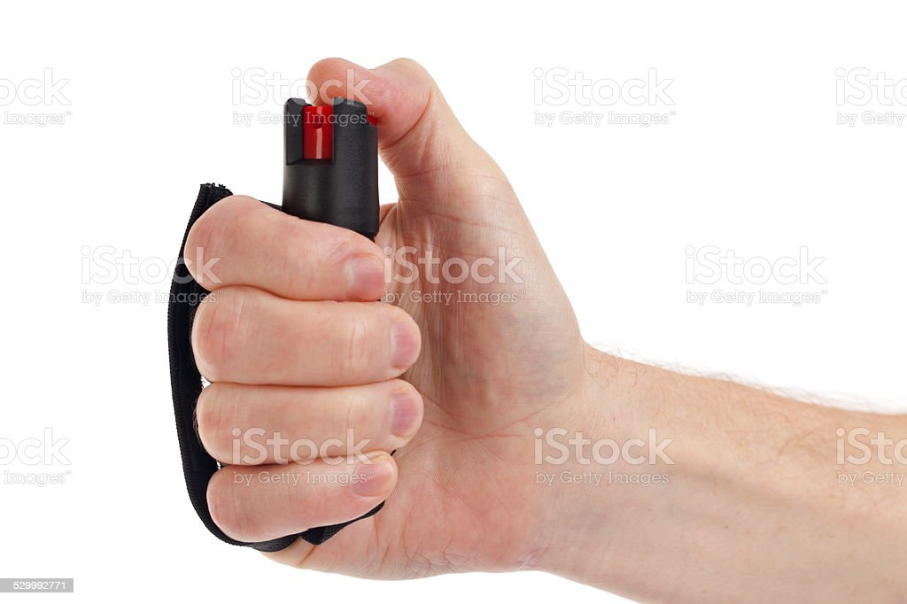 Pepper Spray for Self Defense Isolated stock photo