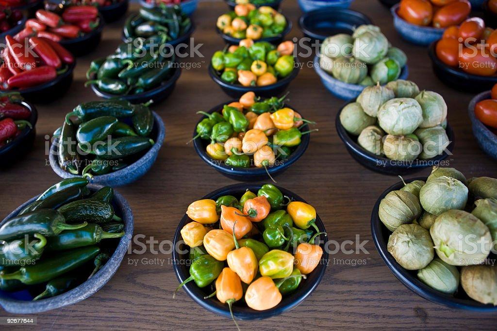 Pepper Varieties stock photo
