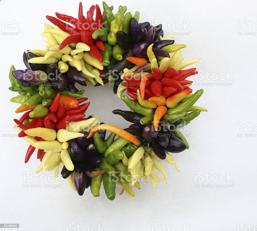 Pepper Wreath royalty-free stock photo