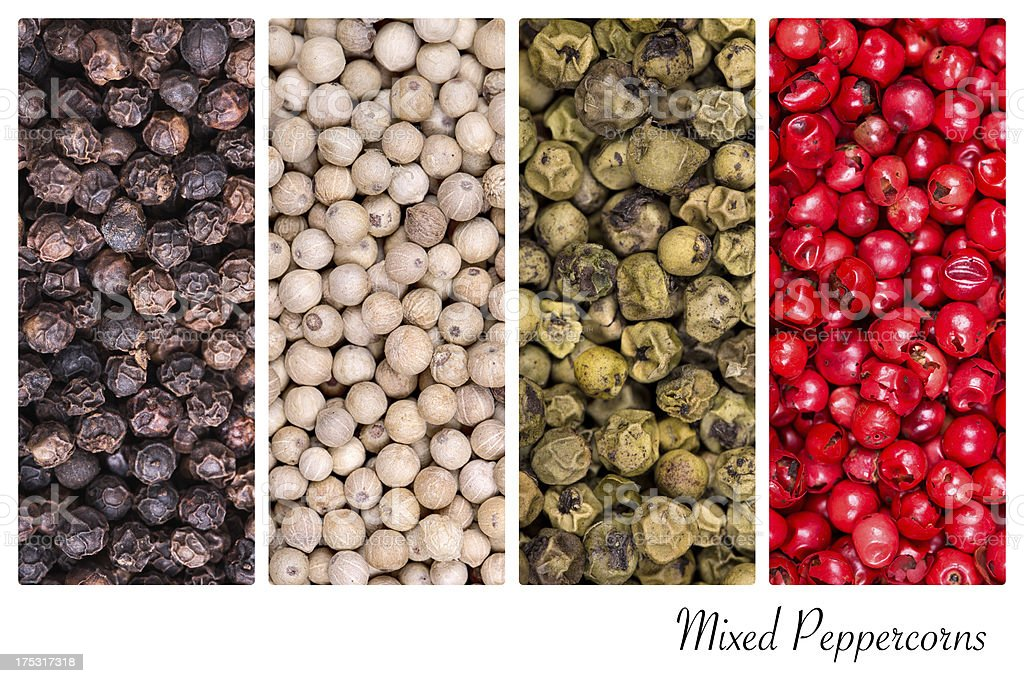 Peppercorn collage royalty-free stock photo