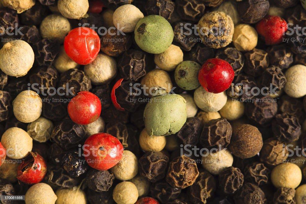 Peppercorn Melange Background stock photo