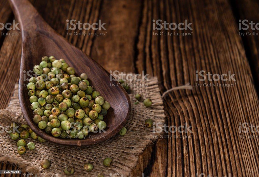 Peppercorns (green) stock photo