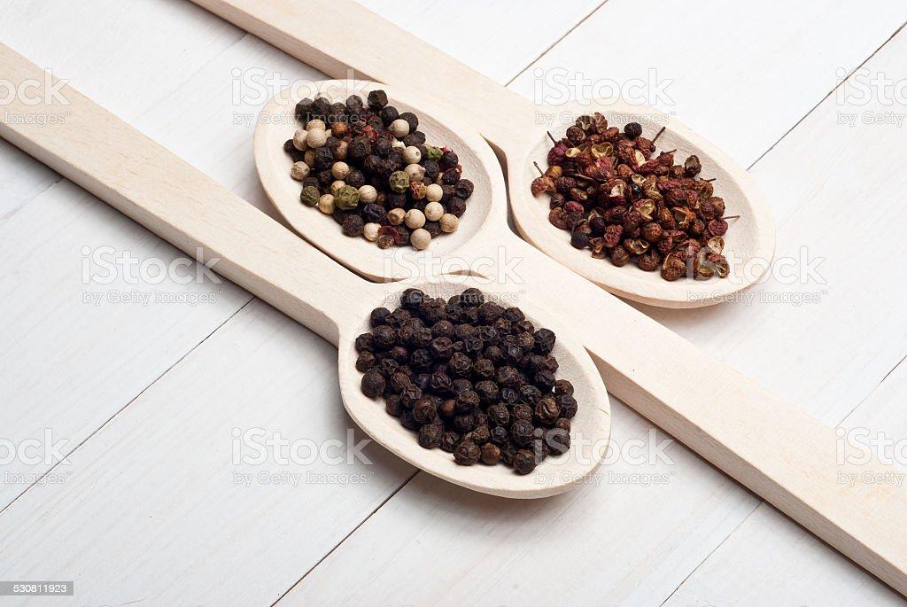 Peppercorns foto de stock libre de derechos