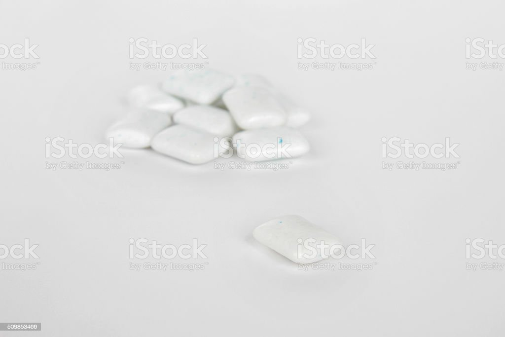peppermint chewing gum stock photo