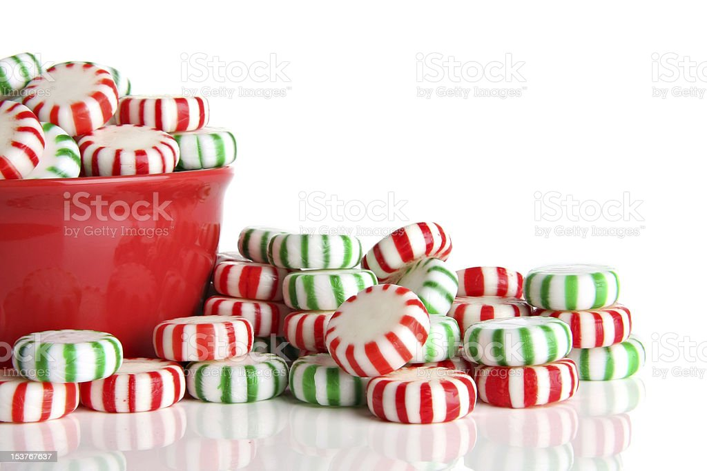 Peppermint Christmas candy royalty-free stock photo