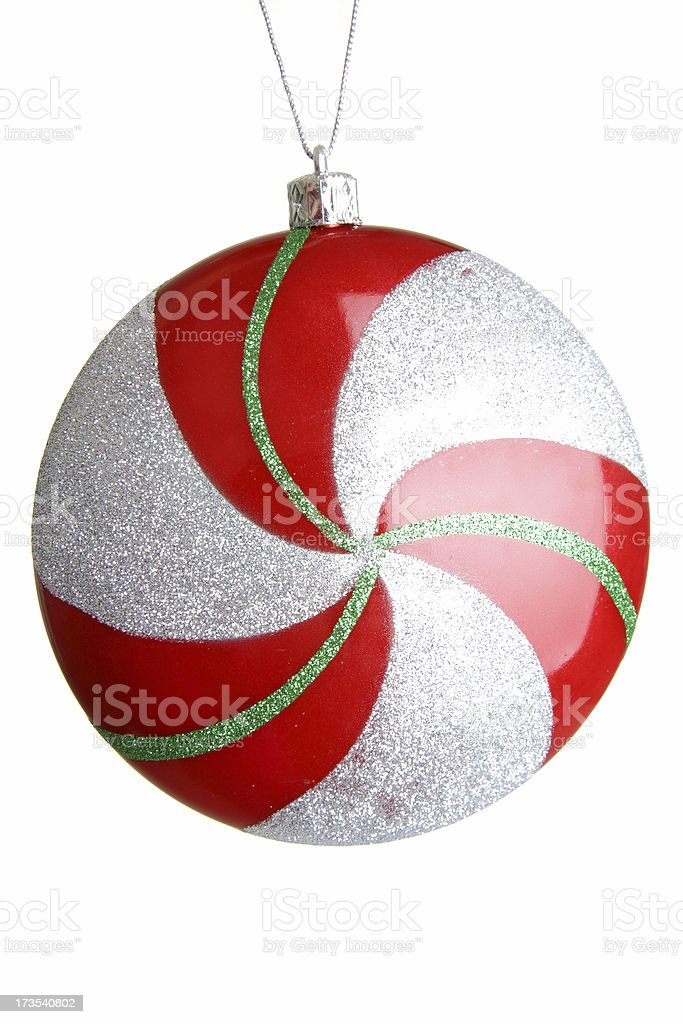 Peppermint Christmas Ornament royalty-free stock photo