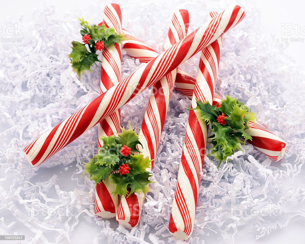 Peppermint Logs stock photo