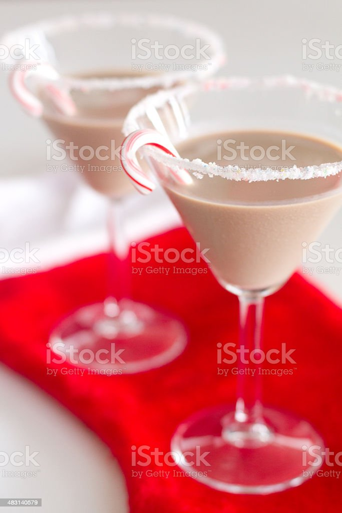 Peppermint Martini stock photo