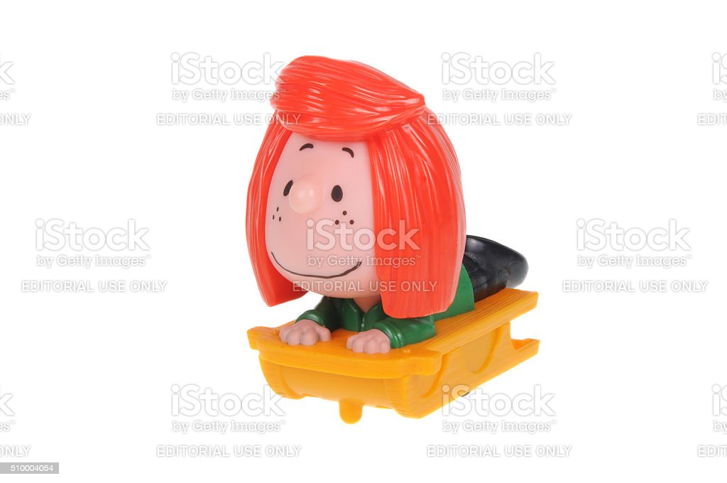 Peppermint Patty 2015 Happy Meal Toy stock photo