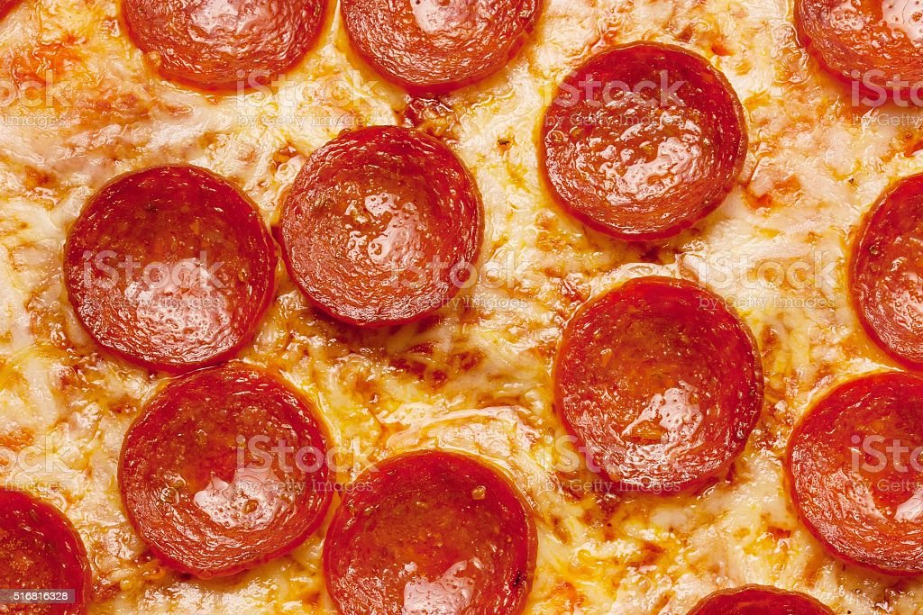 Pepperoci Pizza close up for backgounds stock photo