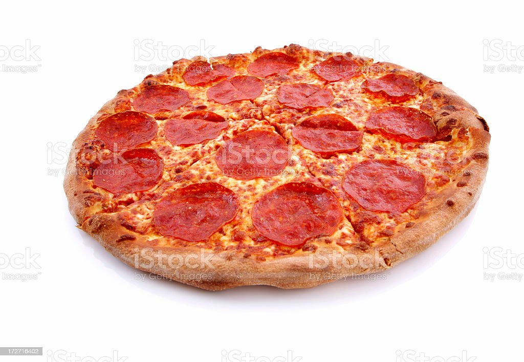 Pepperoni Brooklyn style pizza royalty-free stock photo