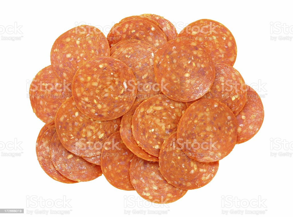 pepperoni stock photo