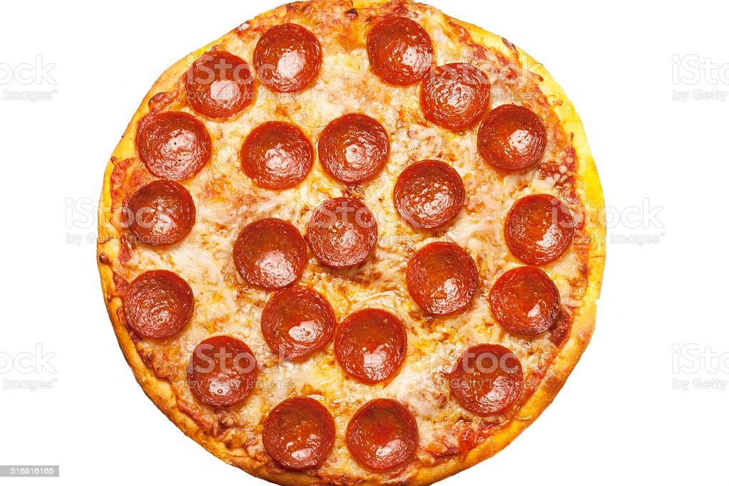 Pepperoni Pizza close up for backgrounds stock photo