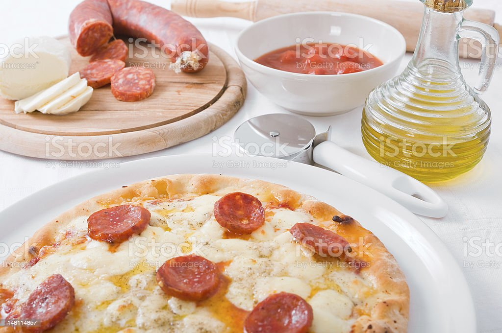 Pepperoni Pizza. royalty-free stock photo