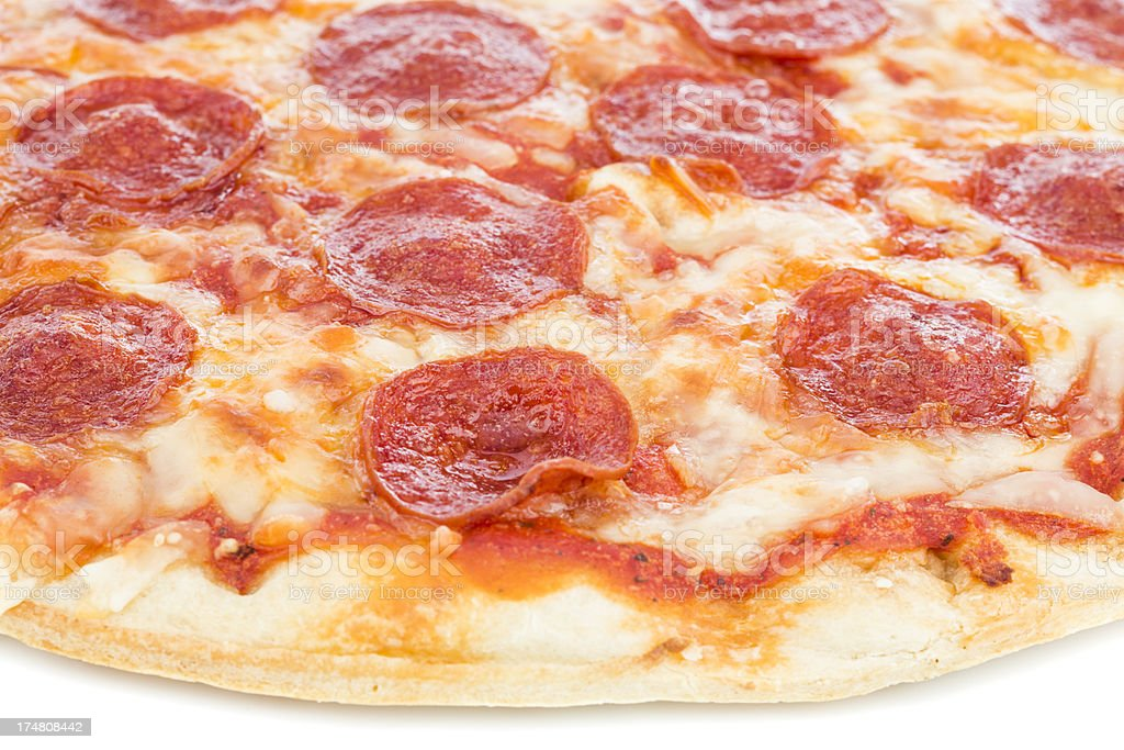 Pepperoni pizza royalty-free stock photo