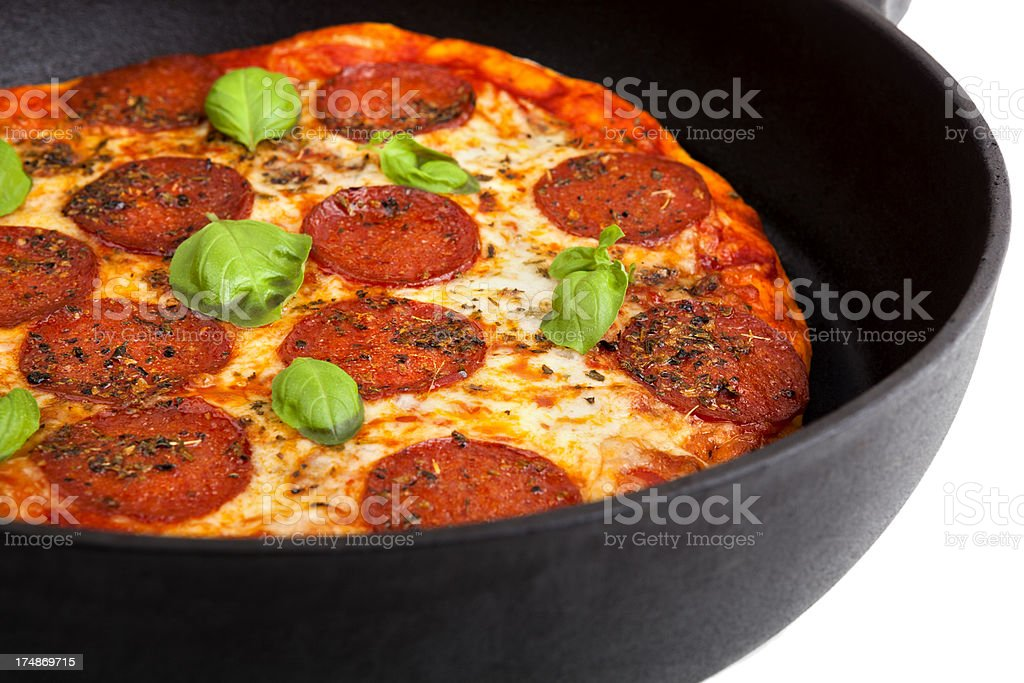 Pepperoni pizza royalty-free stock photo