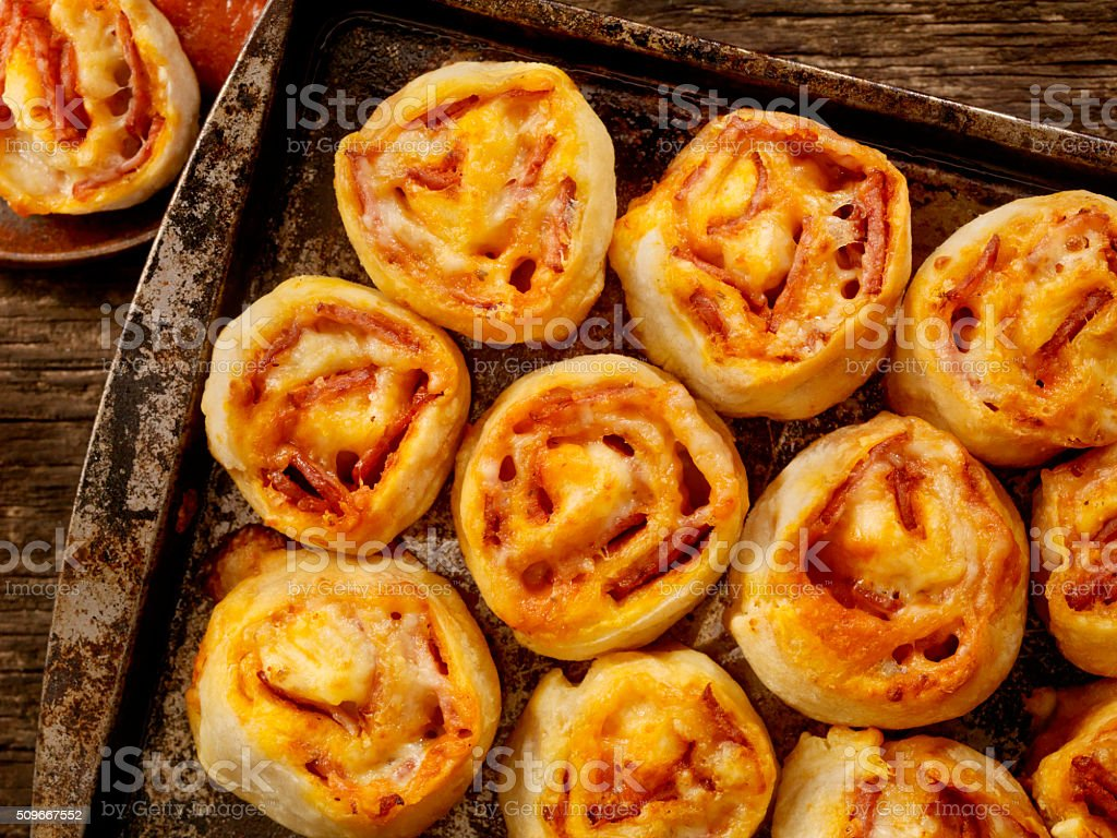 Pepperoni Pizza Rolls stock photo