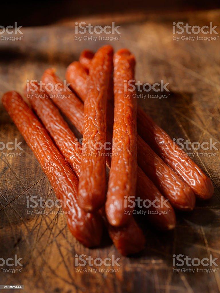 Pepperoni Sticks stock photo