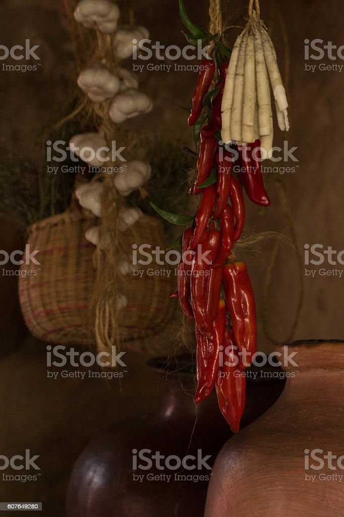 Peppers and Candles stock photo