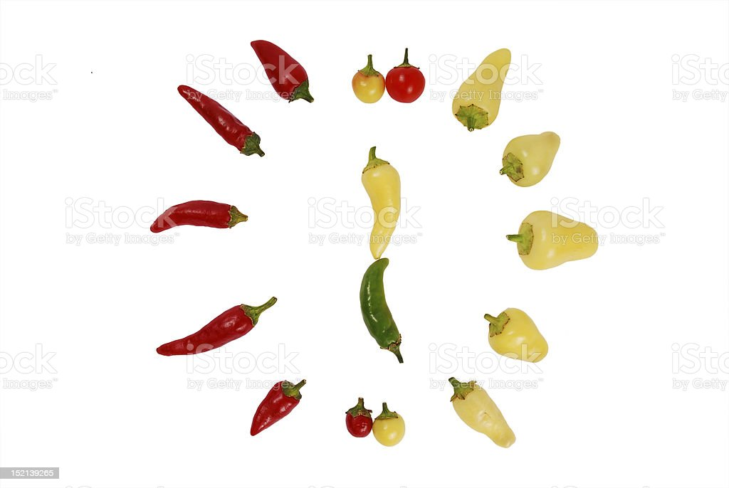 peppers clock stock photo