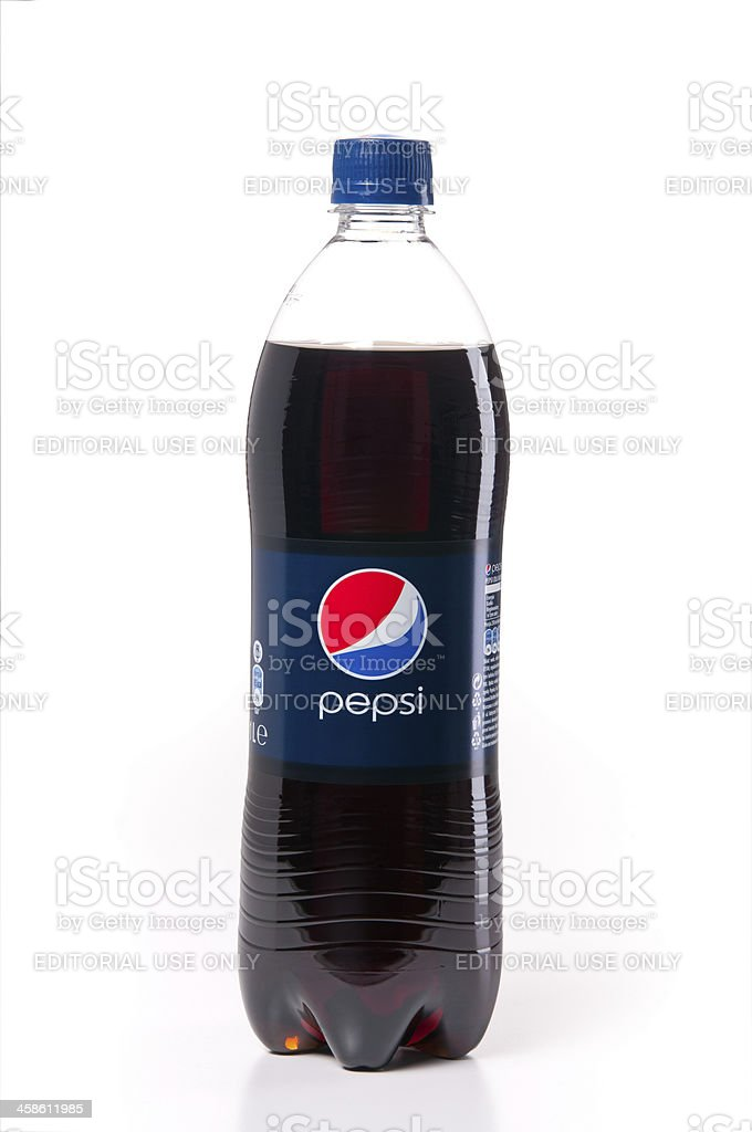 Pepsi bottle isolated on white stock photo
