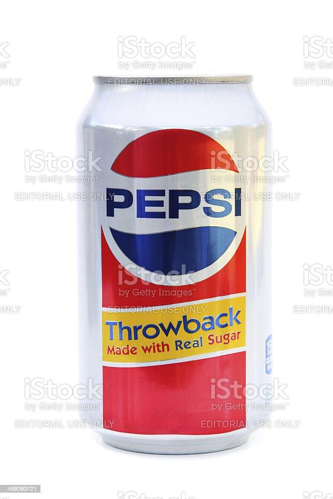 Pepsi Throwback Made with Real Sugar royalty-free stock photo