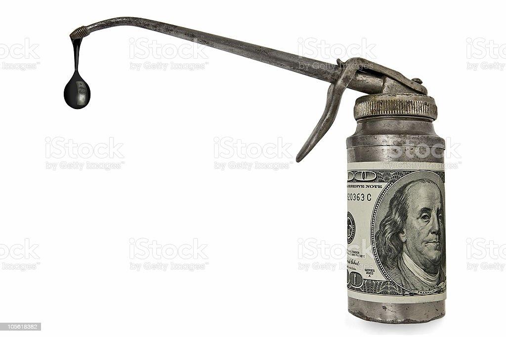 $100 per barrel stock photo