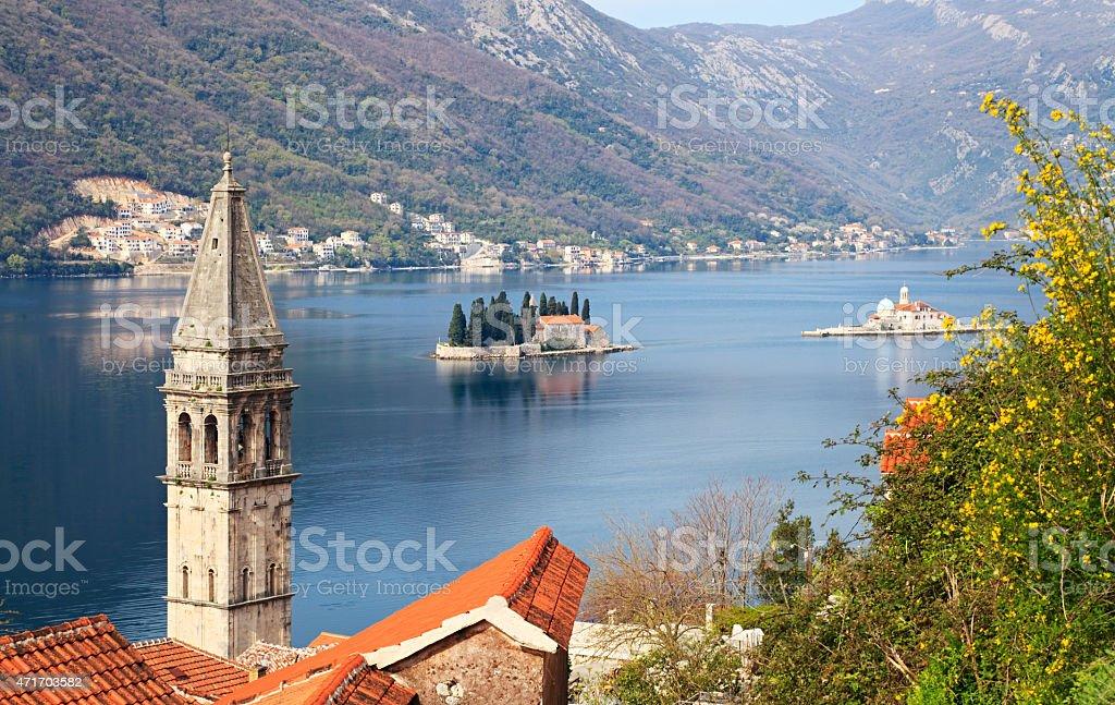 Perast, Bay of Kotor, Montenegro stock photo