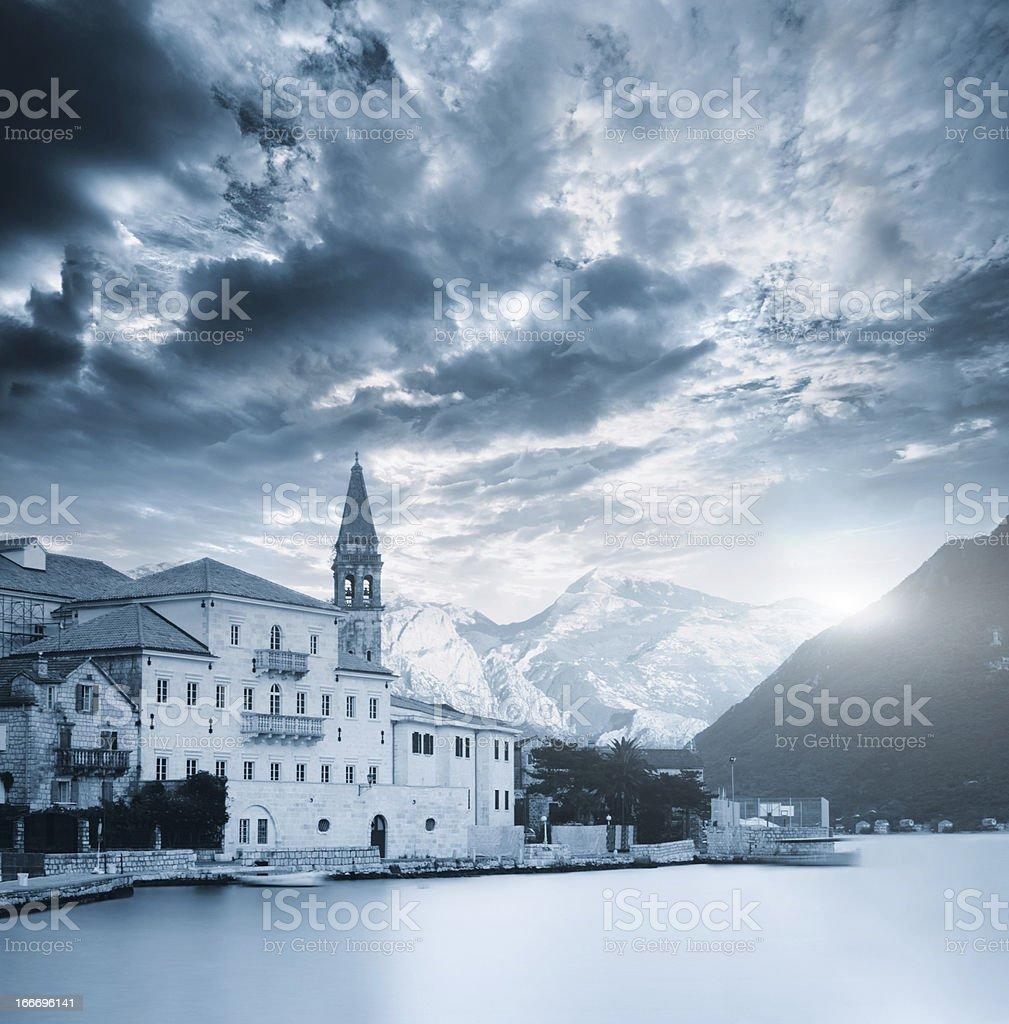 Perast in Montenegro royalty-free stock photo