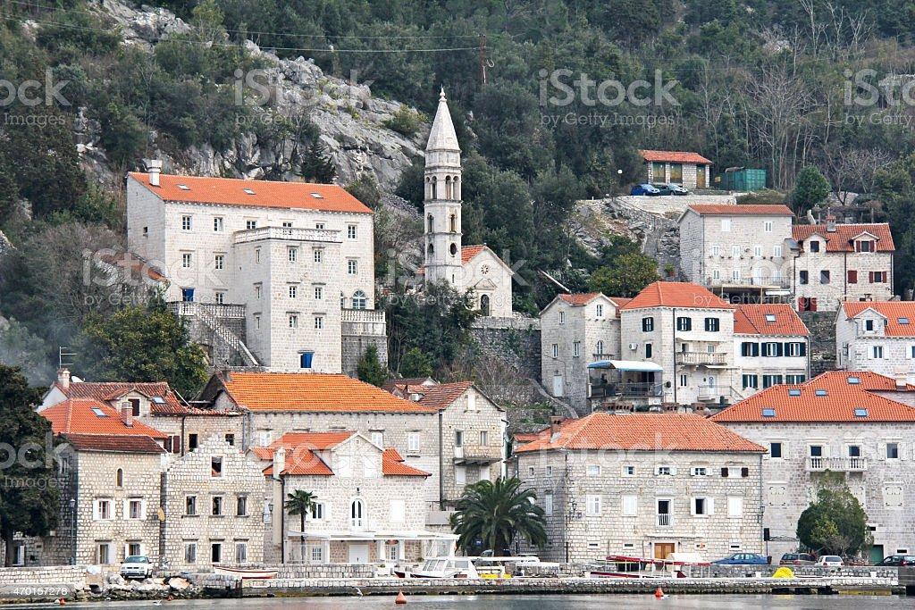 Perast, Montenegro stock photo
