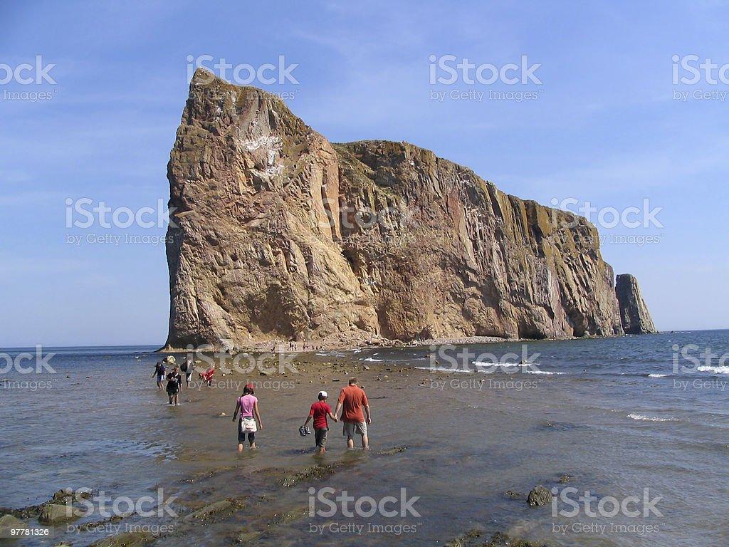 Perce Rock - Low Tide stock photo