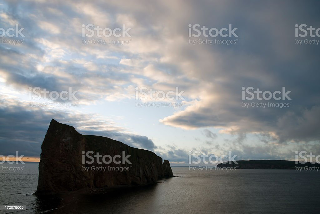Perce Rock stock photo