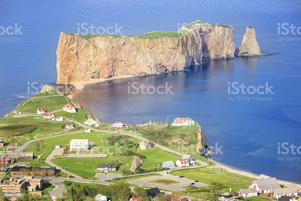 Perce Rock, Quebec, Canada royalty-free stock photo
