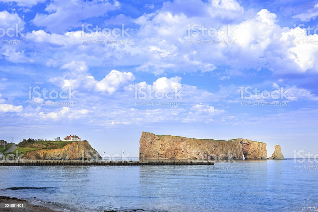 Perce Rock, Quebec, Canada royalty-free stock photo