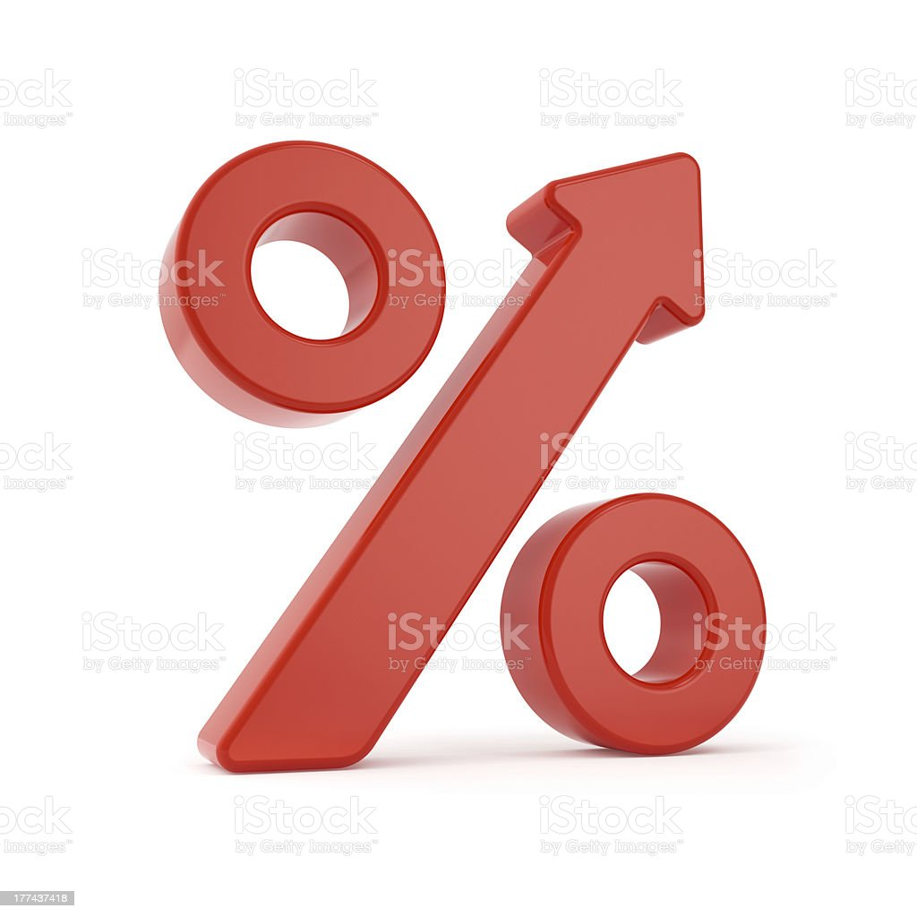 Percent Arrow Grow Sign stock photo