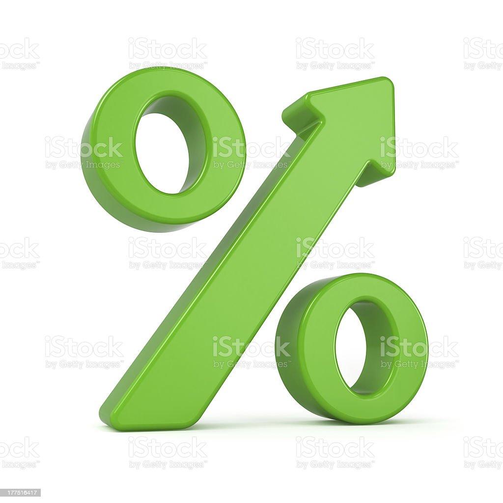 Percent Arrow Growth Sign stock photo