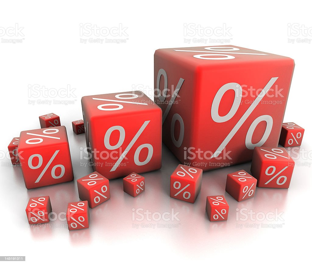 percent blocks stock photo