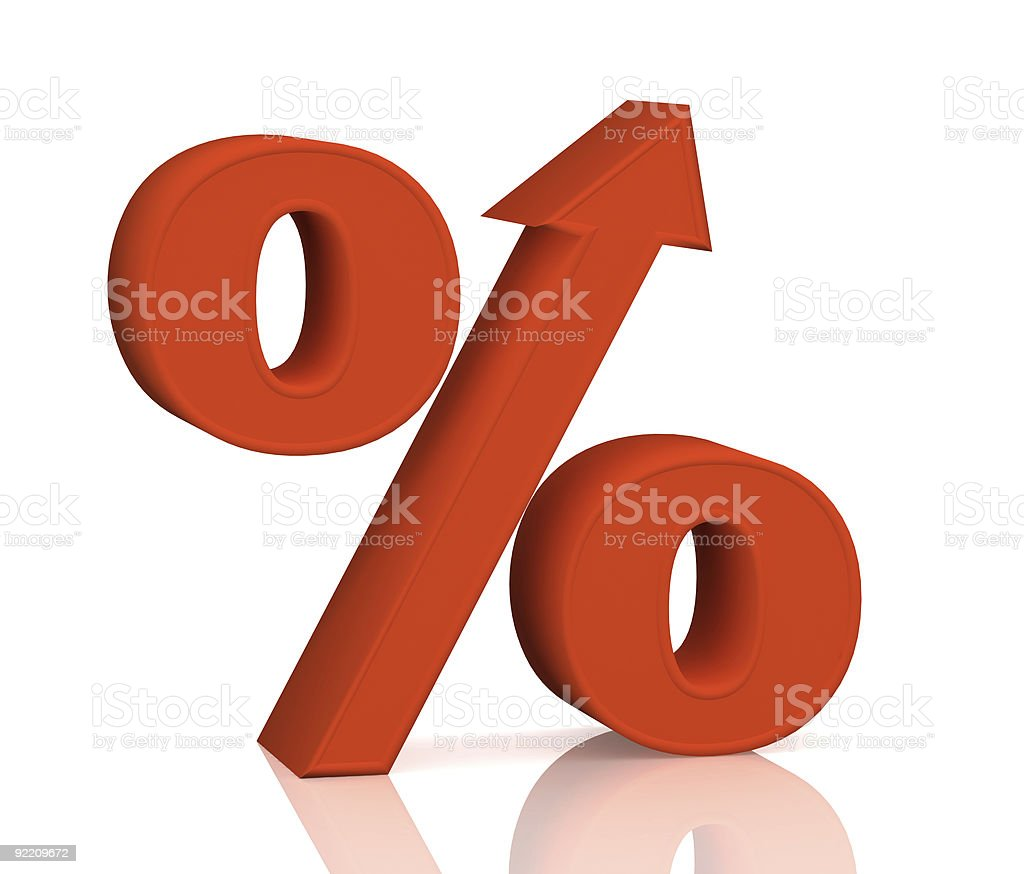 Percent growth stock photo