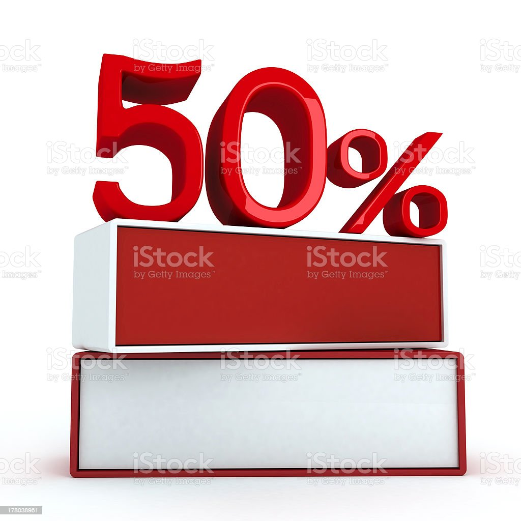 percent on two boards royalty-free stock photo