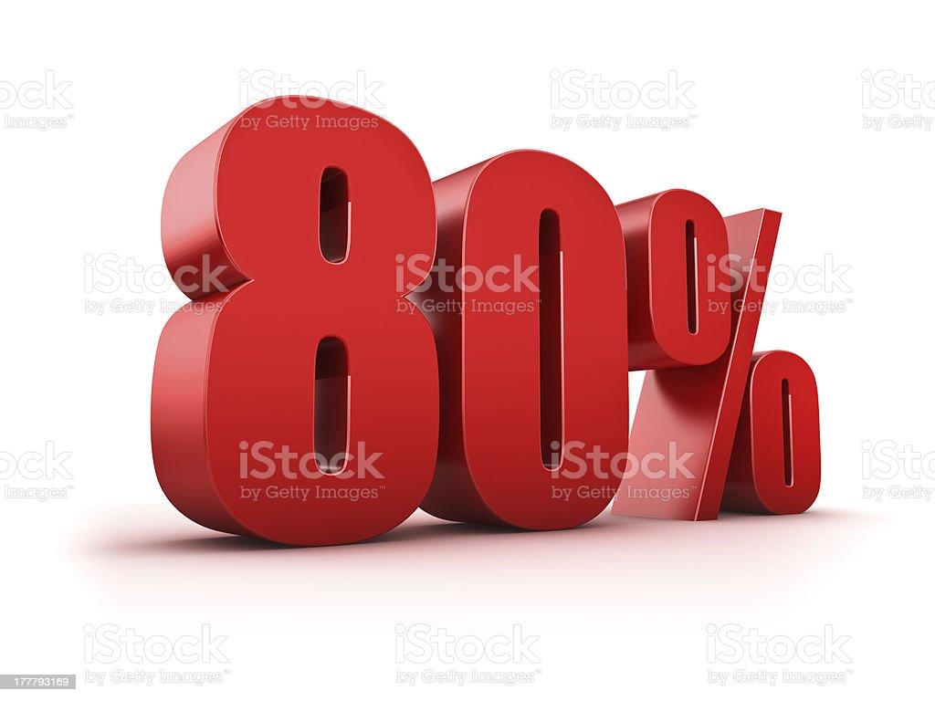 80 percent stock photo