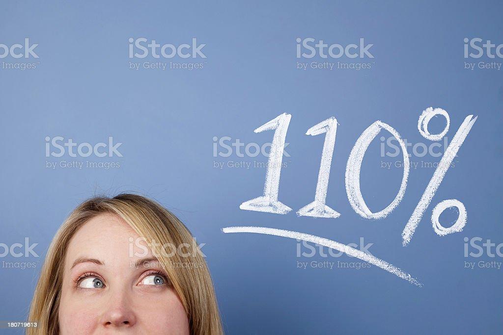 110 percent royalty-free stock photo