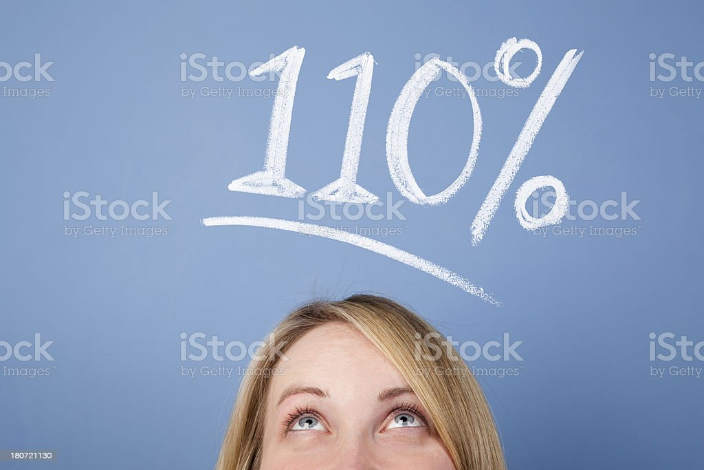 110 percent royalty-free stock photo