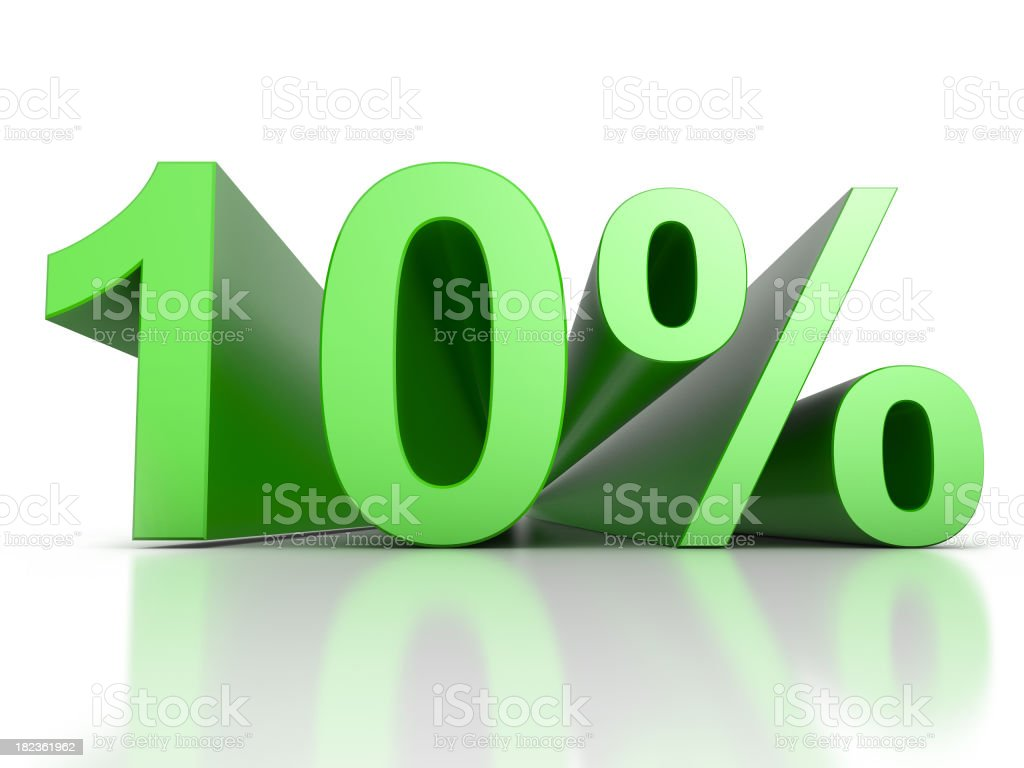 -10 Percent royalty-free stock photo